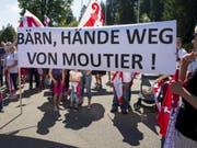 Moutier-Transparent an der 40-Jahr-Feier des Kantons Jura. (Bild: Keystone/JEAN-CHRISTOPHE BOTT)