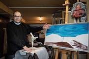 Beim Malen kam Rudy Van Kerckhoven oft auf Ideen für eine Predigt. (Bild: Adriana Ortiz Cardozo)