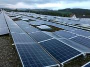 Die Solaranlage auf dem Dach der Holenstein AG ist eine der grössten im Kanton St.Gallen. (Bild: Andrea Häusler)