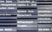 Pendler zwischen Zürich und St.Gallen müssen am Donnerstag diverse Zugsausfälle in Kauf nehmen. (Bild: PD)