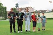 Die Sieger (von links): Mathias Hürlimann, Manuel Lüthi, Tobias Lacher, Diego Heimann, Colin Suter, Marvin Baumgartner. (Bild: pd)