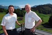Michael Gnos (links) übernimmt auf den 1. Juli die Leitung der Höheren Fachschule Bürgenstock von Bruno Krucker. (Bild: PD)