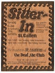 Das Originalplakat von 1969 – der Festplatz musste dann verschoben werden. (Bild: Privatarchiv)