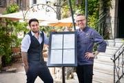 Die neue Führung im «Wienerberg»: Gastgeber Martin Herz (links) und Küchenchef Jan Zoubek. (Bild: Ralph Ribi)