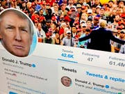 Twitter will verstärkt gegen Regelverstösse von Politikern vorgehen - auch US-Präsident Donald Trump könnte betroffen sein. (Bild: KEYSTONE/AP/JENNY KANE)