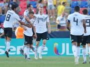 Luca Waldschmidt (7) erzielte zwei weitere Tore im Halbfinal (Bild: KEYSTONE/EPA ANSA/RENATO OLIMPIO)