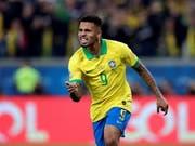 Gabriel Jesus verwertete den entscheidenden Penalty und führte Brasilien erstmals seit 2007 wieder in die Halbfinals der Copa America (Bild: KEYSTONE/EPA EFE/JUAN IGNACIO RONCORONI)