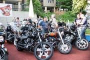 55 Harley-Davidson sind nach Luzern gekommen. (Bild: Manuela Jans-Koch, Luzern, 28. Juni 2019)