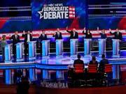 In den USA fand in der Nacht auf Freitag die zweite TV-Debatte demokratischer Präsidentschaftsbewerber statt. (Bild: KEYSTONE/AP/WILFREDO LEE)