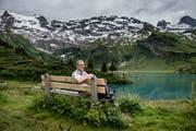 Der Zuger Regierungsrat Andreas Hostettler mag den Trübsee auch als Ausflugsziel. (Bild: Pius Amrein, 3. Juli 2018)