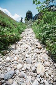 Eine Folge des Klimawandels: ausgetrocknete Flussbette. (Bild: Urs Flüeler/Keystone)