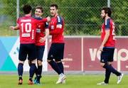 Die Chamer dürfen sich im Cup auf das Heimspiel gegen den FC Aarau freuen. (Bild: Stefan Kaiser, Cham, 11. Mai 2019)