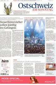 Die Titelseite der ersten «Ostschweiz am Sonntag» vom 3. März 2013.