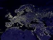 Satellitenaufnahme von Europa, Nordafrika und dem mittleren Osten.Bild. Keystone