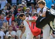 2018 verlor Roger Federer in den Viertelfinals gegen Kevin Anderson (Bild: Keystone).