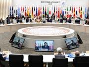 Nach langem Ringen um die Klimapolitik haben sich die Teilnehmer des G20-Gipfels am Samstag auf ein Ergebnis geeinigt. (Bild: KEYSTONE/AP AFP POOL/KAZUHIRO NOGI)