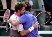 Vor vier Jahren musste Roger Federer seinem Landsmann zum Sieg gratulieren. (Bild: Caroline Blumberg, 2. Juni 2015)
