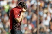 Das Drama Fussball schlug auch beim FC Aarau zu. (Bild: Marc Schumacher/Freshfocus (Aarau, 2. Juni 2019))