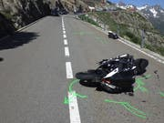 So präsentierte sich die Unfallstelle am Sustenpass. (Bild: Kapo Uri, 29. Juni 2019)