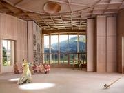 Nach dem Ja der Stimmberechtigten bekommt das Toggenburg nun ein Klanghaus. Am Schwendisee soll ein Holzbau mit einer speziellen Akustik entstehen. (Bild: Kanton St. Gallen)
