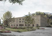 Visualisierung des neuen Betagtenheims Casa Sevellun. (Bild: PD)