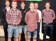 Aus der Region Werdenberg absolvierten sechs Männer erfolgreich die Lehrabschlussprüfung. (Bild: Heidy Beyeler)