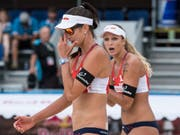 Joana Heidrich (rechts) und Anouk Vergé-Dépré brillieren an den Weltmeisterschaften in Hamburg (Bild: KEYSTONE/PETER SCHNEIDER)