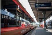 Der neue SOB-«Traverso» im Hauptbahnhof St.Gallen.