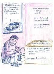 Ein Ausschnitt aus der Comic-Reportage «Diese Leute» von Jvana Manser. (Bild: PD)