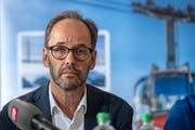 Titlisbahnen-CEO Norbert Patt während der Medienkonferenz im Hotel Terrace in Engelberg. (Bild: Urs Flüeler/Keystone, Engelberg, 5. Juni 2019)