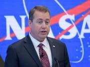 Die US-Raumfahrtbehörde Nasa will Touristen ab 2020 auf der Raumstation ISS beherbergen. Das sagte Finanzchef Jeff DeWit am Freitag vor den Medien in New York. (Bild: KEYSTONE/AP NASA/BILL INGALLS)