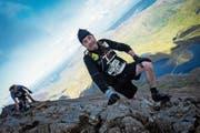 Roger «Rats» Coray auf dem Crip Goch im Snowdonia-Nationalpark in Gwynedd: Eine schöne Landschaft, aber gefährliches Terrain. (Bild: pd)