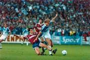 Peter Nadig hat gegen Servette zwar nicht getroffen, aber mit 15 Toren war er Luzerns Goalgetter in der Meistersaison. (Bild: Martin Rütschi/Keystone (Luzern, 10. Juni 1989))