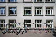 Im Schulhaus Hebel unterrichten künftig nur noch Lehrerinnen. (Bild: Benjamin Manser - 7. Juni 2019)