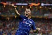 Eden Hazard trifft für Chelsea. (Bild: Luca Bruno / AP)