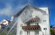 Der Brand in Luthern. (Bild: pd)