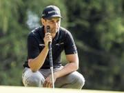 Benjamin Rusch hielt sich als 25. im Feld der 150 Golfprofis gut (Bild: Keystone/ALEXANDRA WEY)