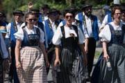 Impressionen vom Festumzug - die Jodlerklub Bärgfründe Schwarzenberg. (Bild: Boris Bürgisser)