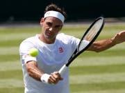 Roger Federer ist bereit für Wimbledon. Nach seinem erfolgreichen Frühling und dem zehnten Triumph am Turnier in Halle scheint das Timing für ein weiteres Hurra des Schweizer Rekordsiegers im Südwesten Londons perfekt (Bild: KEYSTONE/EPA/NIC BOTHMA)