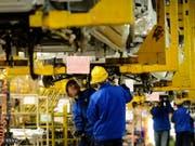 Die Erzeugerpreise in China stagnieren - die Verbraucherpreise stiegen. (Bild: KEYSTONE/AP CHINATOPIX)