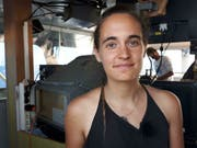 Die europäische Flüchtlingspolitik habe «versagt», sagte die deutsche «Sea-Watch»-Kapitänin Carola Rackete. Sie forderte eine unkomplizierte Aufnahme von im Mittelmeer geretteten Flüchtlingen durch einzelne Städte. (Bild: Keystone/AP/MATTEO GUIDELLI)