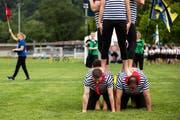 Wer schultert die Last der nächsten Pensionskassenreform Wie es heute aussieht, müssen dafür die Jungen zahlen. (Bild: Alexandra Wey/Keystone; am Turnfest Aarau, 20. Juni 2019)