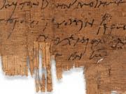 Die christliche Grussformel am Schluss des Briefs verrät die Gesinnung des Schreibenden. Der Papyrus befindet sich seit über 100 Jahren im Besitz der Universität Basel. (Bild: Universität Basel)