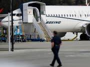 Auf ihr soll eines Tages ein Ryanair-Logo prangen: Der Problemflieger 737 MAX von Boeing. (Bild: KEYSTONE/AP/TED S. WARREN)