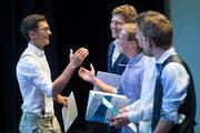 Die Polymechaniker feierten ihren Abschluss im Le Théâtre in Emmen. (Bild: Boris Bürgisser (Emmen, 4. Juli 2019))