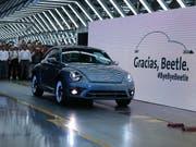 Der letzte VW Beetle, der vom Band lief. (Bild: KEYSTONE/AP/FERNANDO LLANO)
