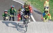 Lenny Olschewski (Nr.168) setzt sich in seiner ersten BMX-Rennsaison an die Spitze seiner Altersklasse. (Bild: Marianne Bauer)