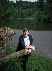 Carina Brüngger-Ebinger am Steinhauser Waldsee. (Bild: Stefan Kaiser, 11. Juli 2019)