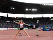 Géraldine Ruckstuhl kürt sich im Siebenkampf zur U23-Europameisterin (Bild: KEYSTONE/JEAN-CHRISTOPHE BOTT)