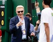 Boris Becker stimmt ein Loblied auf Roger Federer an. (Bild: Keystone)